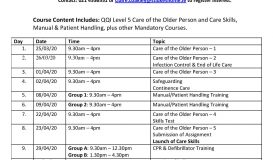 Healthcare Professional Carers Training